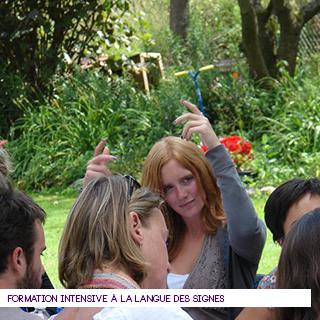 Formation intensive à la langue des signes